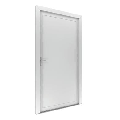 Portoncino d'ingresso Basa bianco L 90 x H 210 cm destra