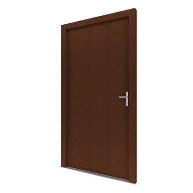Portoncino d'ingresso Basa noce L 90 x H 210 cm sinistra