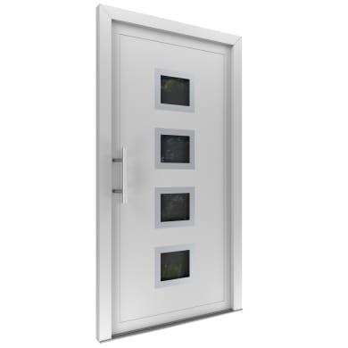 Portoncino d'ingresso Medium bianco L 80 x H 210 cm destra