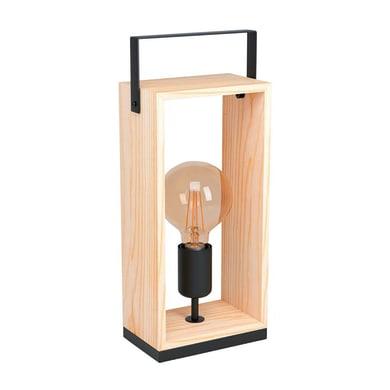 Lampada da tavolo Famborough marrone<multisep/>nero , in acciaio, EGLO