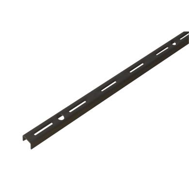 Cremagliera singola Spaceo H 200 x L 0.16 cm, Sp 1.5 mm nero