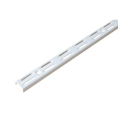 Cremagliera doppia H 150 x L 0.25 cm, Sp 1.5 mm bianco