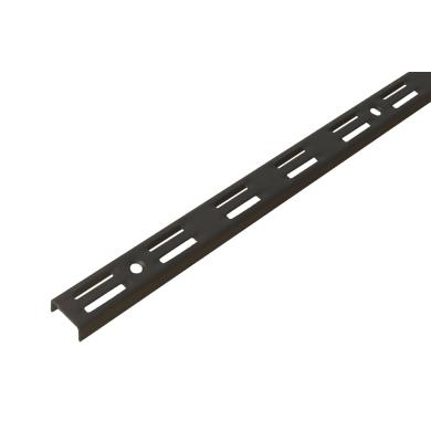 Cremagliera doppia Spaceo H 100 x L 0.25 cm, Sp 1.5 mm nero