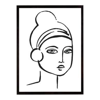 Stampa incorniciata Chignon Portrayal 40.7x50.7 cm