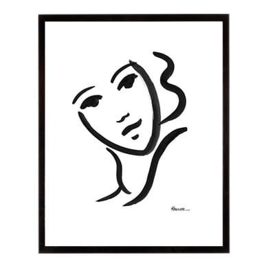 Stampa incorniciata She has 40.7x50.7 cm