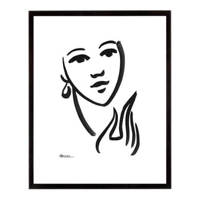 Stampa incorniciata She is 40.7x50.7 cm