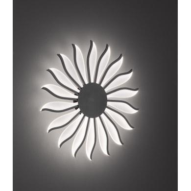 Plafoniera moderno Suna LED integrato nero, in acrilico,  D. 70 cm 70x70 cm, 18  luci WOFI