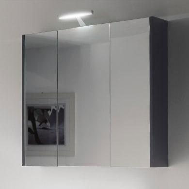 Specchio contenitore L 120 x P 19 x H 75 cm