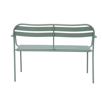 Panca da giardino senza cuscino in acciaio Contemporary colore verde