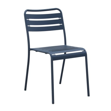 Sedia da giardino senza cuscino in acciaio Dining Chair colore argento