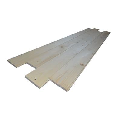 Listone legno liscio naturale 1° scelta L 200 x H 20 cm Sp 20 mm