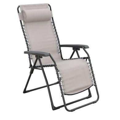 Poltrona da giardino con cuscino  in acciaio Relax Chair colore tortora