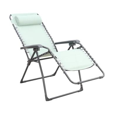 Poltrona da giardino con cuscino  in acciaio Relax Chair colore verde