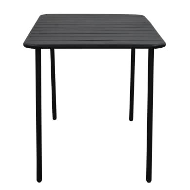Tavolo da giardino rettangolare con piano in metallo L 70 x P 120 cm