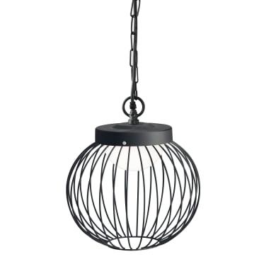 Sospensione Cage LED integrato  in alluminio, nero, 20W 1700LM IP65 SOVIL