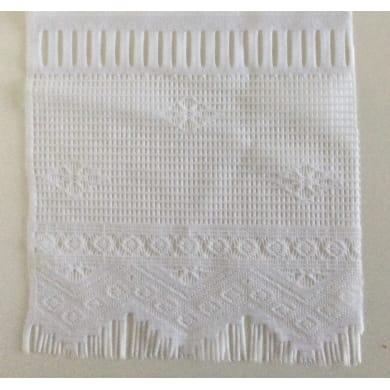 Tessuto al taglio Geometrica bianco 0.01 cm