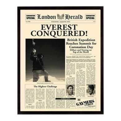 Stampa incorniciata Everest conq 40.7x50.7 cm