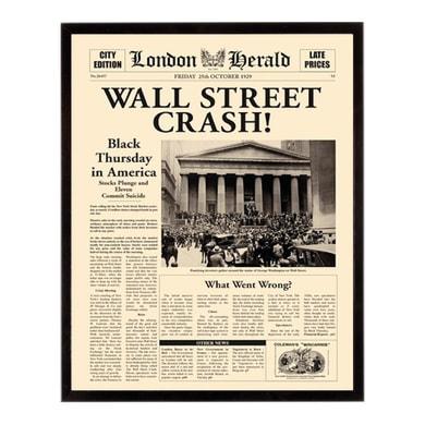 Stampa incorniciata Wall st crash 40.7x50.7 cm