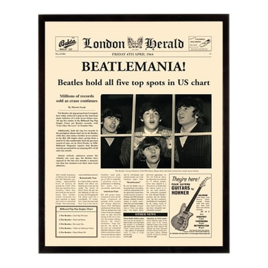 Stampa incorniciata Beatlemania 40.7x50.7 cm
