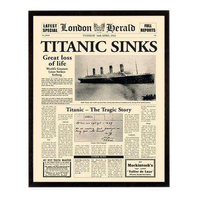 Stampa incorniciata Titanic sinks 40.7x50.7 cm