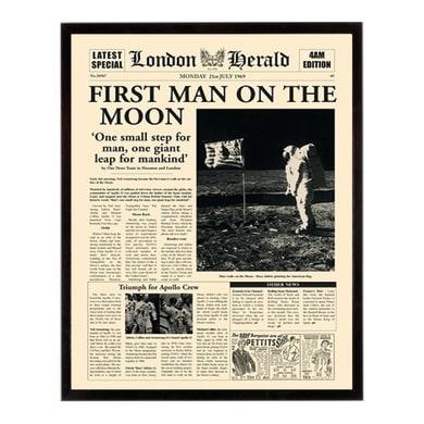Stampa incorniciata First man on the moon 40.7x50.7 cm