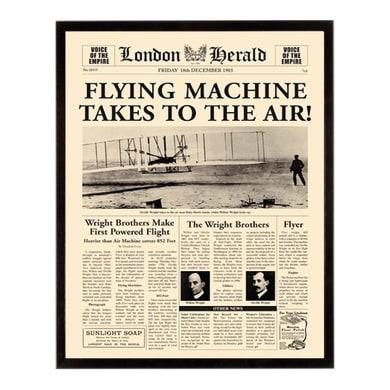 Stampa incorniciata Flying machine 40.7x50.7 cm