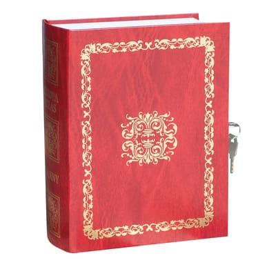Cassetta porta valori CL01 in acciaio rossoL 16 x P 7.5 x H 21 cm