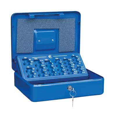 Cassetta porta valori PV04 in acciaio rosso e beige e bluL 30 x P 24 x H 9 cm