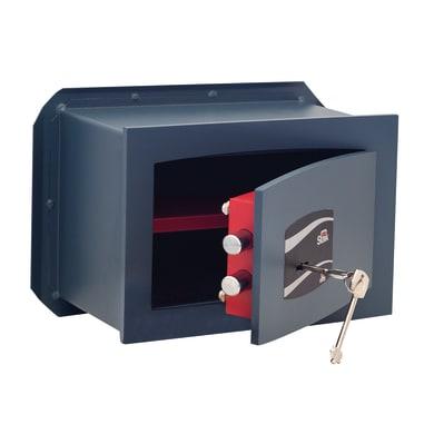 Cassaforte a chiave STARK 800A da murare L26 x P15 x H18 cm