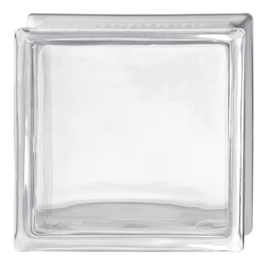 Vetromattone BORMIOLI trasparente liscio H 24 x L 24 x Sp 8 cm 4 pezzi