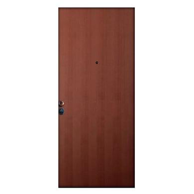 Porta blindata Padlock noce L 80 x H 210 cm destra