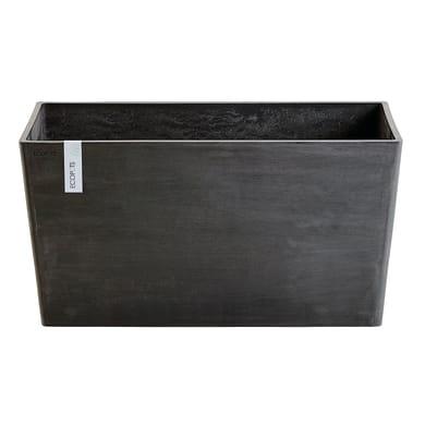 Vaso Paris 80 cm - Dark Grey ECOPOT'S in composito colore grigio scuro H 40.5 cm, L 38 x