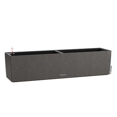 Cassetta portafiori Balconera Stone 80 - Nero Grafite LECHUZA in plastica colore nero grafite H 19 cm, L 19 x P 19 cm