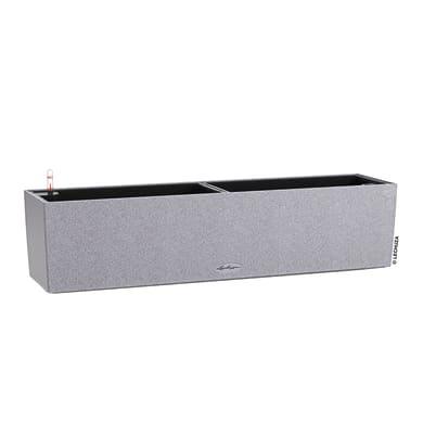 Cassetta portafiori Balconera Stone 80 - Grigio Pietra LECHUZA in plastica colore grigio pietra H 19 cm, L 19 x P 19 cm