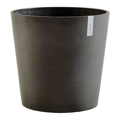 Vaso Amsterdam 50 cm - Dark Grey ECOPOTS in composito colore grigio scuro H 44.5 cm, P 50 cm Ø 50 cm