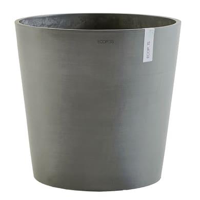 Vaso Amsterdam 60 cm - Grey ECOPOTS in composito colore Grey H 55.5 cm, Ø 60 cm