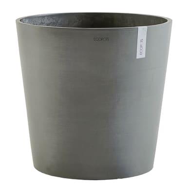 Vaso Amsterdam 50 cm - Grey ECOPOTS in composito colore Grey H 44.5 cm, Ø 50 cm