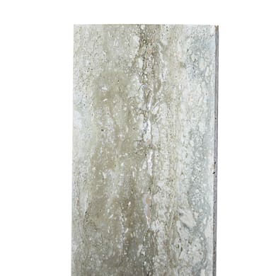 Copertina in travertino 25 cm, Sp 3 cm, bianco