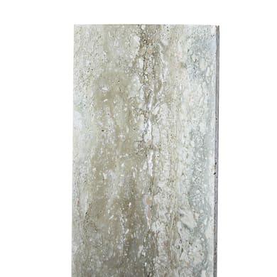 Copertina in travertino 30 cm, Sp 3 cm, bianco