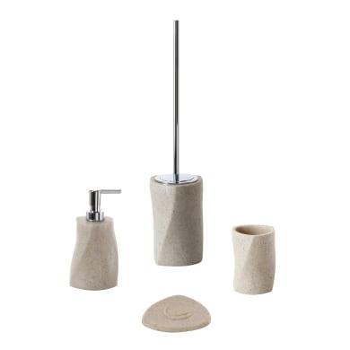 Set di accessori per bagno sabbia in resina