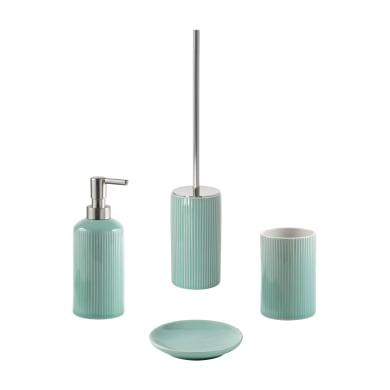 Set di accessori per bagno acquamarina in ceramica