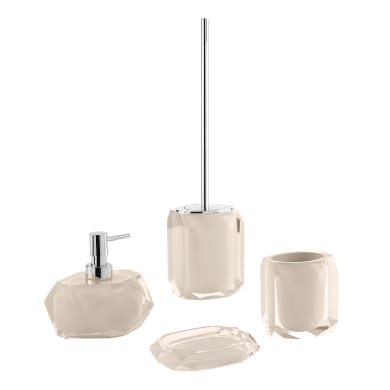 Set di accessori per bagno tortora in resina