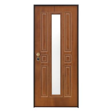 Porta blindata Mirror noce L 80 x H 210 cm destra