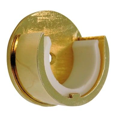 Supporto rosetta Ø28mm Agra in metallo ottone lucido , 2 pz INSPIRE