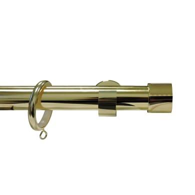 Finale per bastone Agra EASY FIX tappo in metallo Ø28mm ottone lucido INSPIRE Set di 2 pezzi