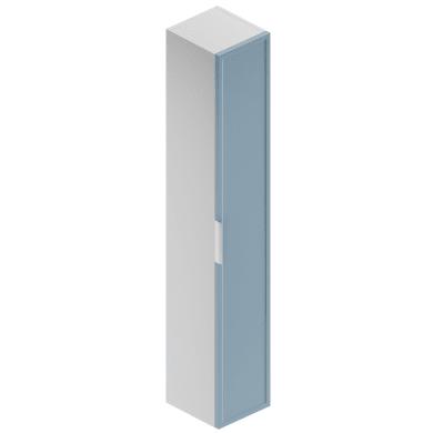 Colonna Quadra 1 anta L 30 x P 30 x H 180 cm bianco opaco/cielo opaco laccato