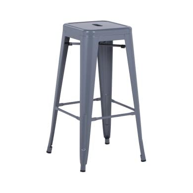 Sgabello Victoria seduta in metallo grigio antracite base in metallo