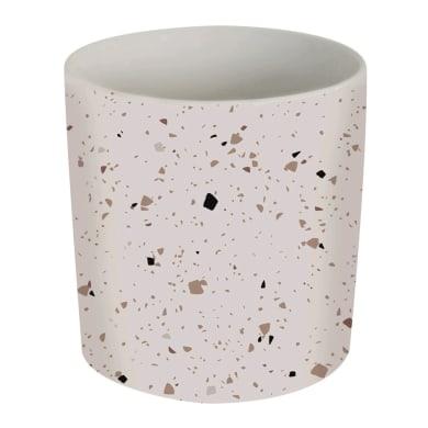 Porta posate Carnival in ceramica arancione e bianco 12 x 12 x 13 cm