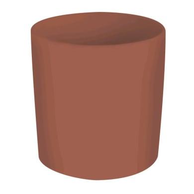 Porta posate Orange in ceramica arancione 12 x 12 x 13 cm