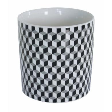 Porta posate Optical in ceramica nero 12 x 12 x 13 cm